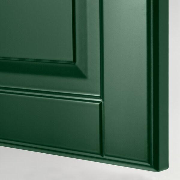 METOD / MAXIMERA Mobile/ripiani/4cassetti/anta/2fron, bianco/Bodbyn verde scuro, 40x60x220 cm