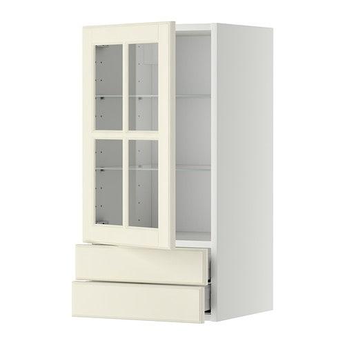 metod maximera pensile con anta a vetro 2 cassetti ikea. Black Bedroom Furniture Sets. Home Design Ideas
