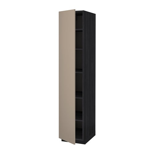 Metod mobile alto con ripiani effetto legno nero ubbalt - Mobile con ripiani ...