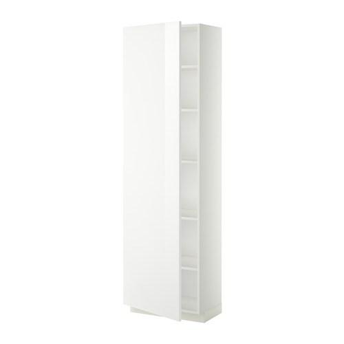 Metod mobile alto con ripiani bianco ringhult lucido - Mobile alto e stretto ikea ...