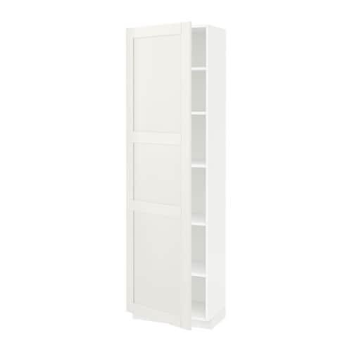 Metod mobile alto con ripiani bianco s vedal bianco - Mobile alto e stretto ikea ...