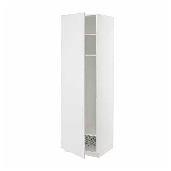 METOD Mobile alto con ripiani/cestello, bianco/Stensund bianco, 60x60x200 cm