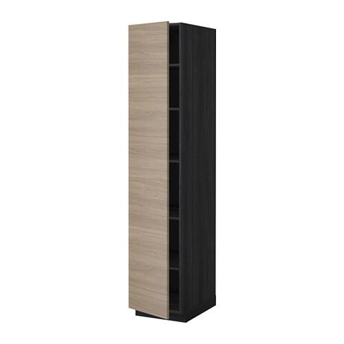 Metod mobile alto con ripiani effetto legno nero - Mobile alto e stretto ikea ...