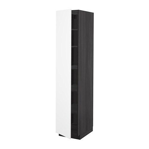 METOD Mobile alto con ripiani - bianco, Veddinge bianco, 60x60x200 ...