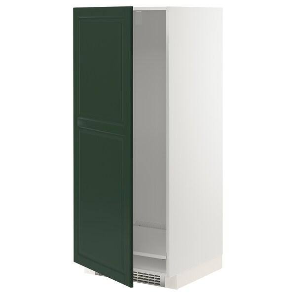METOD Mobile alto per frigo/congelatore, bianco/Bodbyn verde scuro, 60x60x140 cm