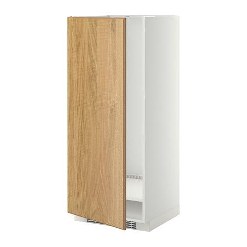 Metod mobile alto per frigo congelatore bianco hyttan impiallacciatura di rovere 60x60x140 - Ikea elettrodomestici da incasso ...