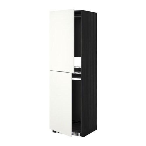 METOD Mobile alto per frigo/congelatore - effetto legno nero, Häggeby ...