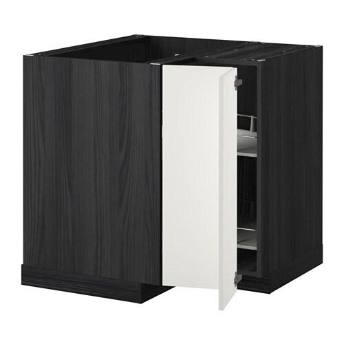 mobile bagno angolare ikea : METOD Mobile angolare/cestello girevole - effetto legno nero, Haggeby ...