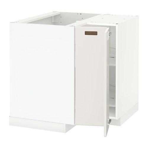 METOD Mobile angolare/cestello girevole - bianco, Veddinge bianco - IKEA