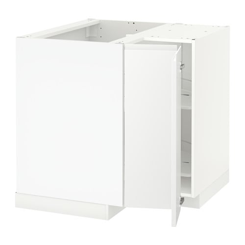 Metod mobile angolare cestello girevole bianco voxtorp for Ikea mobile angolare