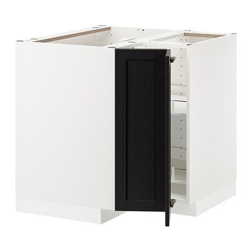 Metod mobile angolare cestello girevole bianco lerh for Ikea mobile angolare