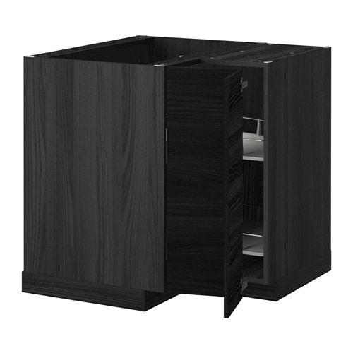 Metod mobile angolare cestello girevole effetto legno for Ikea mobile angolare