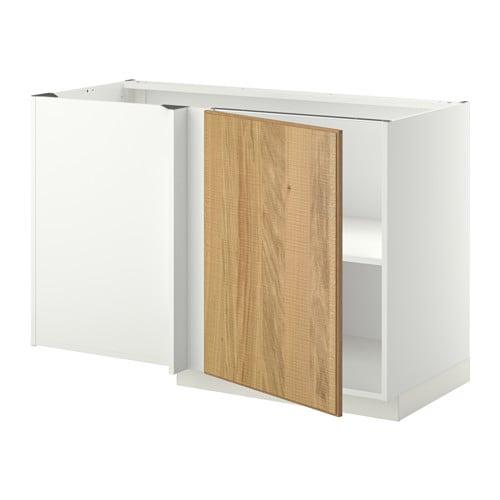Metod mobile base angolare con ripiano bianco hyttan - Ikea mobile angolare ...