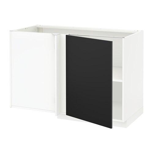 Metod mobile base angolare con ripiano bianco ikea for Ikea mobile angolare