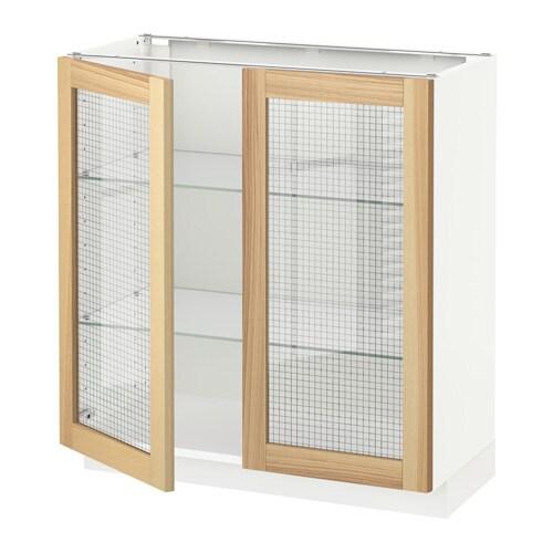 Metod mobile base con 2 ante a vetro bianco 80x37x80 cm - Ante mobili ikea ...