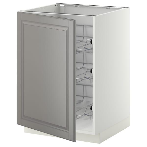 METOD Mobile base con cestelli scorrevoli, bianco/Bodbyn grigio, 60x60 cm