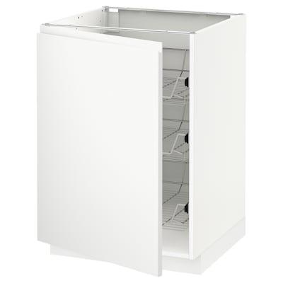 METOD Mobile base con cestelli scorrevoli, bianco/Voxtorp bianco opaco, 60x60 cm