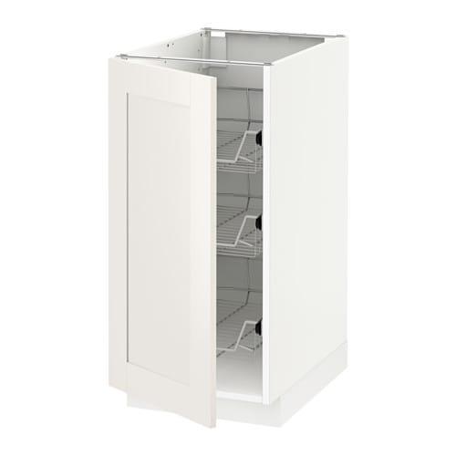 METOD Mobile base con cestelli scorrevoli - bianco, Sävedal bianco ...