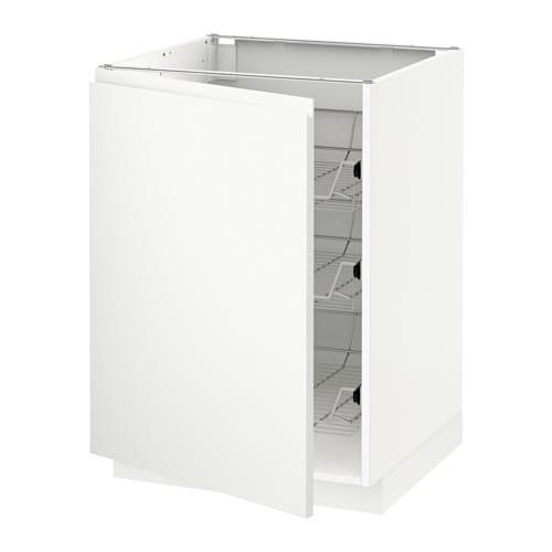 Metod mobile base con cestelli scorrevoli bianco - Mobile bianco ikea ...