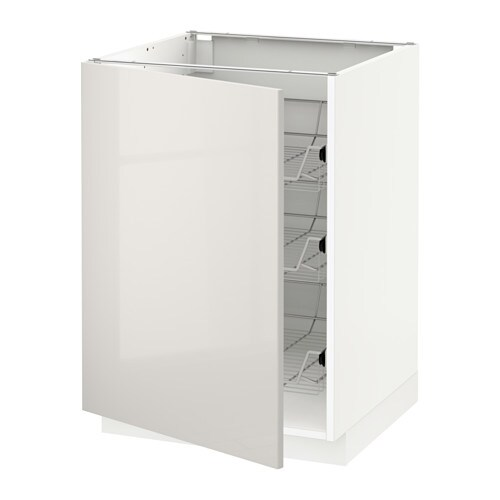 METOD Mobile base con cestelli scorrevoli - bianco, Ringhult lucido ...