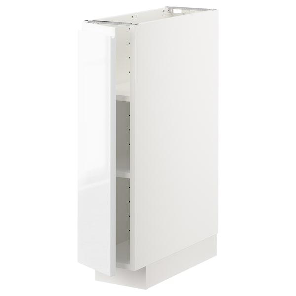 METOD Mobile base con ripiani, bianco/Voxtorp lucido/bianco, 20x60 cm
