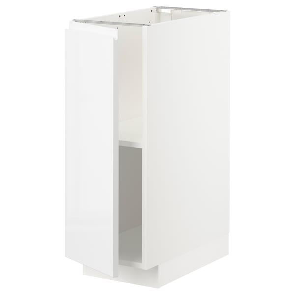METOD Mobile base con ripiani, bianco/Voxtorp lucido/bianco, 30x60 cm