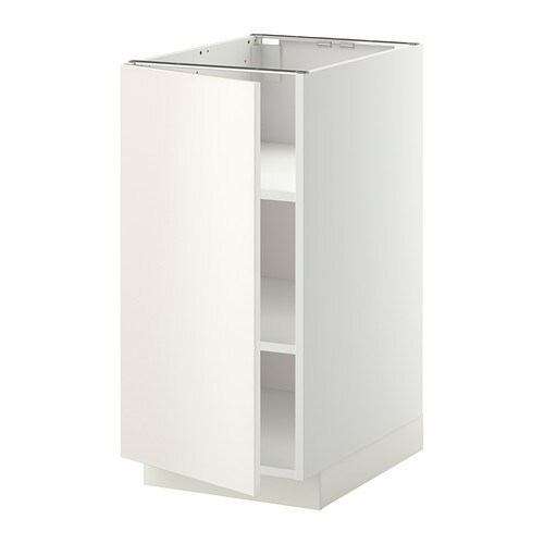 Metod mobile base con ripiani bianco veddinge bianco - Mobile bianco ikea ...
