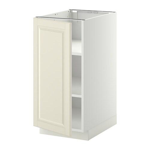 METOD Mobile base con ripiani - bianco, Bodbyn bianco sporco, 40x60 cm ...