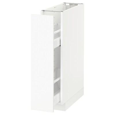 METOD Mobile base e accessori estraibili, bianco/Häggeby bianco, 20x60 cm