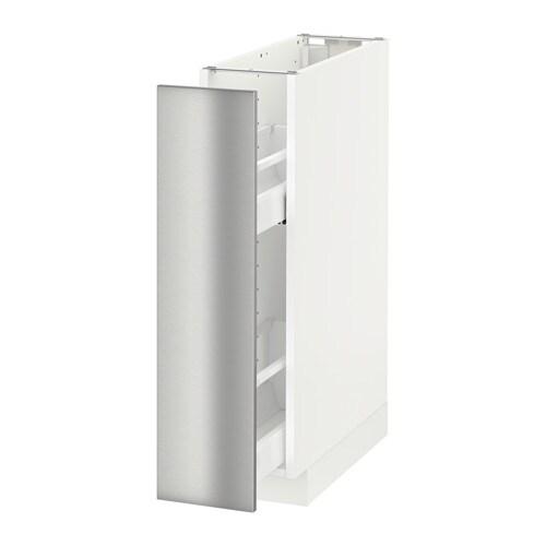METOD Mobile base e accessori estraibili - bianco, Grevsta inox - IKEA