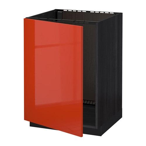 Metod mobile base per lavello effetto legno nero j rsta lucido arancione ikea - Base per lavello cucina ...