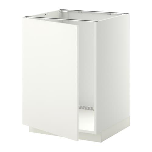 Metod mobile base per lavello bianco h ggeby bianco ikea - Ikea mobile lavello ...