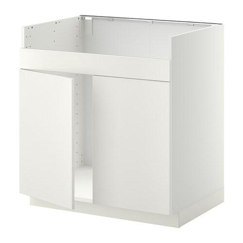 METOD Mobile base per lavello 2vas DOMSJÖ - bianco, Veddinge bianco ...