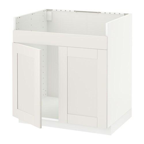 METOD Mobile base per lavello 2vas DOMSJ? IKEA Struttura di mm 18 di ...