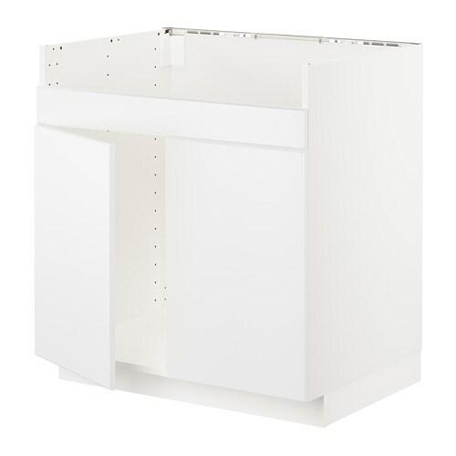 METOD Mobile base per lavello 2vas HAVSEN - bianco, Veddinge grigio ...
