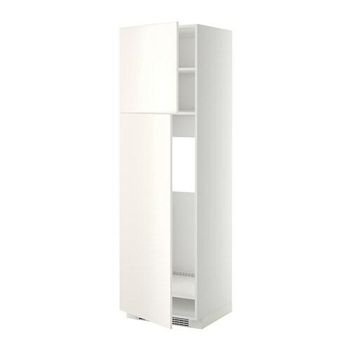 Frigo A Due Ante.Metod Mobile Frigo 2 Ante Bianco Veddinge Bianco 60x60x200 Cm Ikea