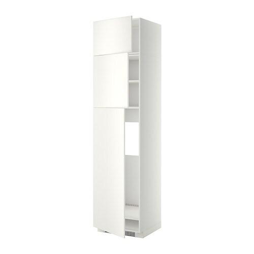 Metod mobile frigo 3 ante bianco veddinge bianco ikea - Mobile frigo incasso ...