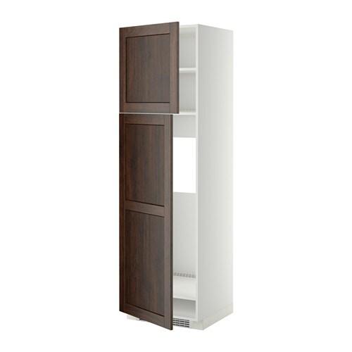 Metod mobile frigo 2 ante bianco edserum effetto legno marrone 60x60x200 cm ikea - Ikea elettrodomestici da incasso ...