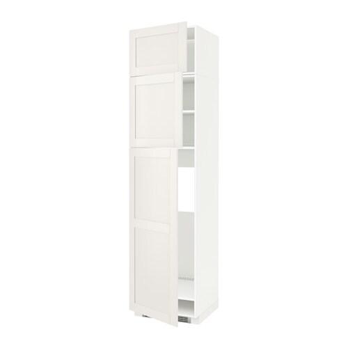 Metod mobile frigo 3 ante bianco s vedal bianco ikea - Mobile frigo incasso ...