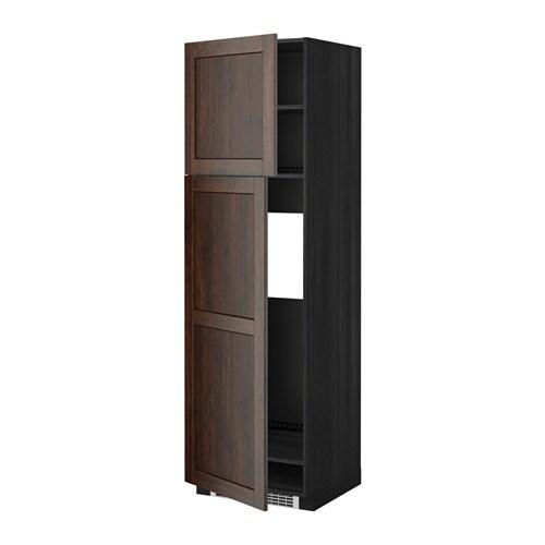 Metod mobile frigo 2 ante effetto legno nero edserum - Mobile frigo incasso ...