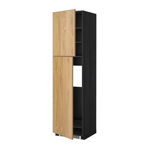 Metod mobile frigo 2 ante effetto legno nero hyttan - Mobile frigo incasso ...