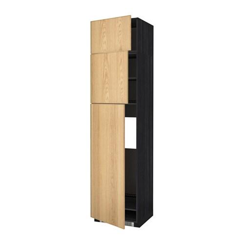 Metod mobile frigo 3 ante effetto legno nero ekestad - Ante mobili ikea ...