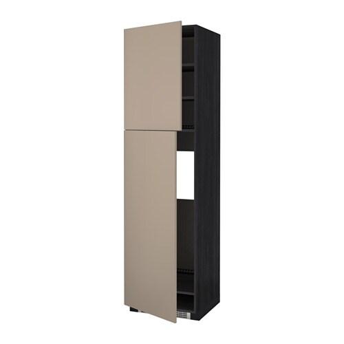 METOD Mobile frigo2 ante  effetto legno nero, Ubbalt