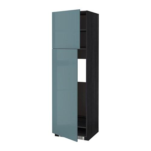 Metod mobile frigo 2 ante effetto legno nero kallarp - Mobile frigo incasso ...