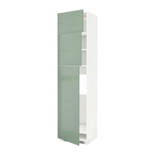 Metod mobile frigo 3 ante bianco kallarp lucido verde - Mobile frigo incasso ...