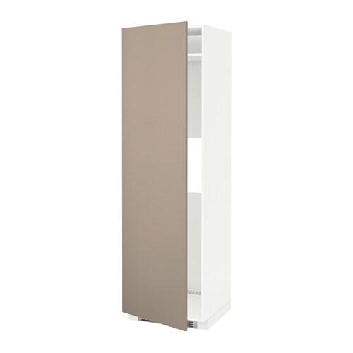 METOD Mobile frigo o congelatore/anta - bianco, Ubbalt beige scuro ...