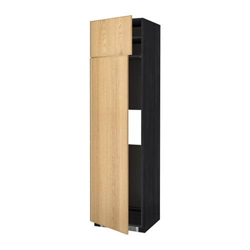 metod mobile frigo o congelatore 2 ante effetto legno nero ekestad rovere 60x60x220 cm ikea. Black Bedroom Furniture Sets. Home Design Ideas