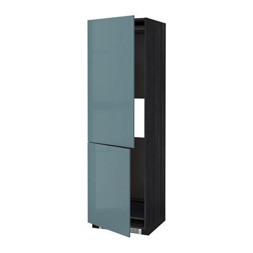 metod mobile frigo o congelatore/2 ante - effetto legno nero ... - Mobile Soggiorno Turchese 2