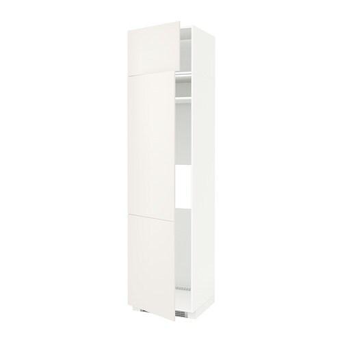 Metod mobile frigo o congelatore 2 ante veddinge bianco - Mobile frigo incasso ...