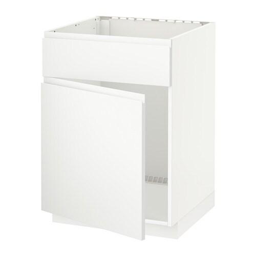 Metod mobile lavello con anta frontale bianco voxtorp - Ikea mobile lavello ...